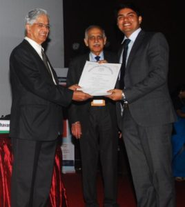 Receiving Young Associate Award from Dr B N Suresh, President INAE