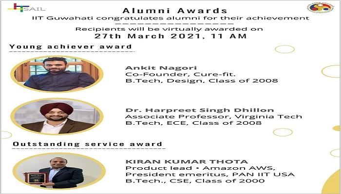 IIT Guwahati is pleased to announce its awardees for Alumni Award 2020 IITGuwahati for very first time